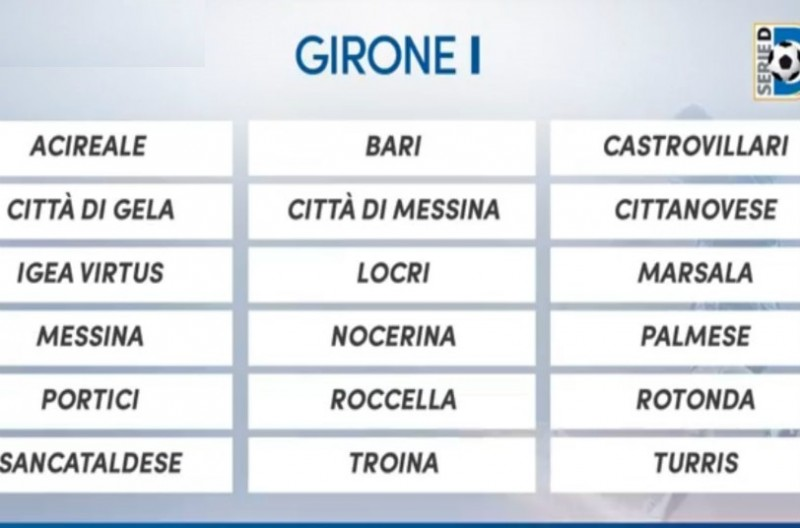 Serie D Girone D Calendario.Serie D Gir I 2018 2019 Ecco Il Girone Con 8 Siciliane C E