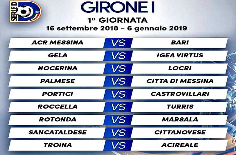 Bari Calcio Calendario.Serie D Girone I Il Calendario Completo 2018 2019