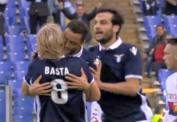 Palermo-Lazio: 0-1 all'intervallo